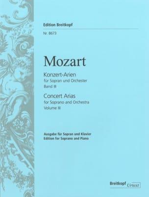 MOZART - Konzert Arien Soprano Volume 3 - Partition - di-arezzo.fr