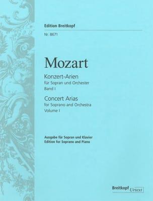 MOZART - Airs de Concert pour Soprano. Volume 1 - Partition - di-arezzo.fr