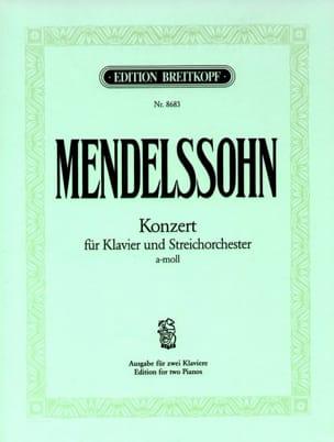 MENDELSSOHN - Concerto la Mineur - Partition - di-arezzo.fr