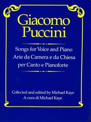 Giacomo Puccini - Arie Da Camera E Da Chiesa - Partition - di-arezzo.fr