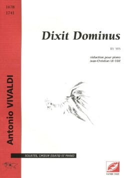 Dixit Dominus RV 595 VIVALDI Partition Chœur - laflutedepan