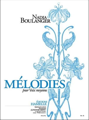 Nadia Boulanger - Melodies - Sheet Music - di-arezzo.co.uk