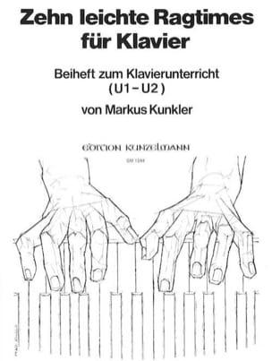 10 Leichte Ragtimes - Kunkler - Partition - Piano - laflutedepan.com