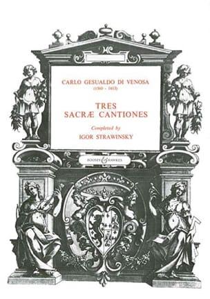 3 sacrae cantiones Gesualdo di Venosa, Carlo Partition laflutedepan