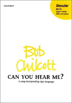 Bob Chilcott - Can you hear me? - Sheet Music - di-arezzo.com