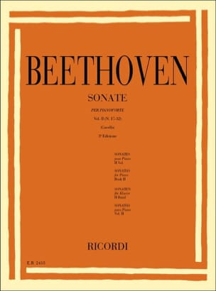 Sonates Volume 2 BEETHOVEN Partition Piano - laflutedepan