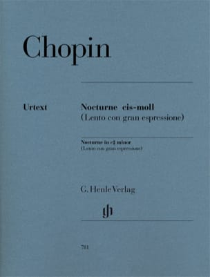 CHOPIN - Notturno In do diesis Opus minore Postumo - Partitura - di-arezzo.it