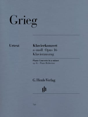 Edward Grieg - Piano Concerto In The Minor Opus 16 - Sheet Music - di-arezzo.co.uk