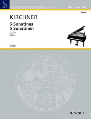 5 Sonatines Opus 70 Theodor Kirchner Partition Piano - laflutedepan
