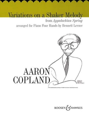 Aaron Copland - Variations On A Shaker Melody. 4 Mains - Partition - di-arezzo.fr
