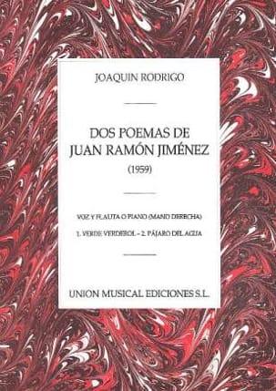 Joaquin Rodrigo - 2 Poems by Juan Ramon Jimenez - Sheet Music - di-arezzo.com
