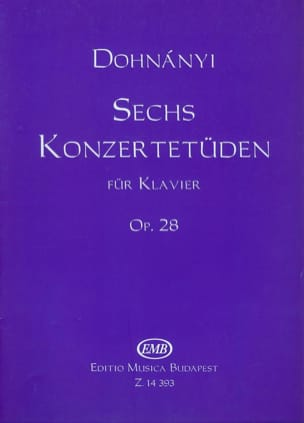 DOHNÁNYI - 6 Konzertetuden Opus 28 - Sheet Music - di-arezzo.co.uk