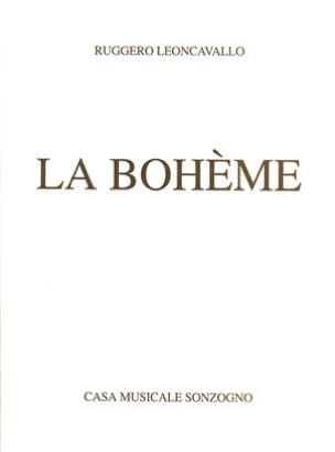 La Bohème Ruggiero Leoncavallo Partition Opéras - laflutedepan