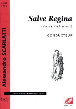 Salve Regina. Conducteur Alessandro Scarlatti Partition laflutedepan