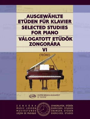 Etudes Vol 6 - Teoke - Partition - Piano - laflutedepan.com