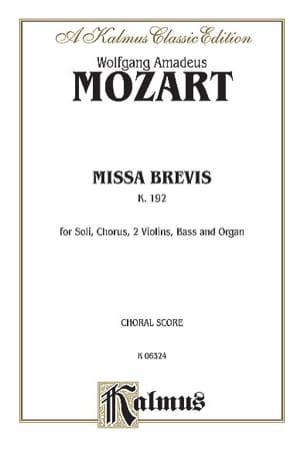 Missa Brevis K 192. - MOZART - Partition - Chœur - laflutedepan.com
