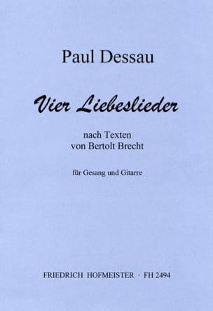 4 Liebeslieder - Paul Dessau - Partition - Guitare - laflutedepan.com