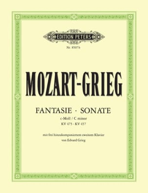 MOZART - Fantaisie K 475 et Sonate K 457. 2 Pianos - Partition - di-arezzo.fr