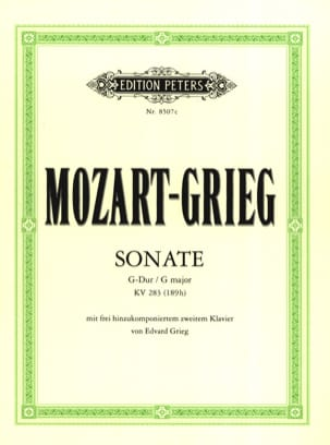 MOZART - Sonate K 283. 2 Pianos - Partition - di-arezzo.fr
