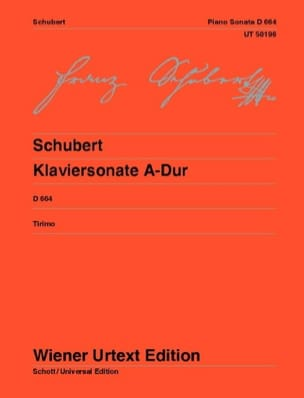 Sonate en la majeur D 664 Opus 120 SCHUBERT Partition laflutedepan