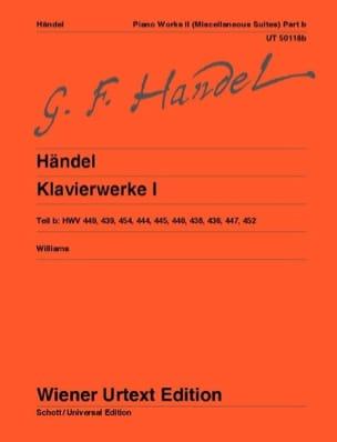 Georg-Friedrich Haendel - Oeuvre Complète Pour Piano Volume 1b - Partition - di-arezzo.fr