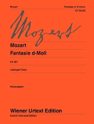 MOZART - Fancy D Minor K 397 - Sheet Music - di-arezzo.co.uk