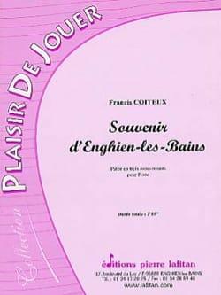 Souvenir d' Enghien-Les-Bains Francis Coiteux Partition laflutedepan