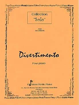 Divertimento - Alain Duchesne - Partition - Piano - laflutedepan.com