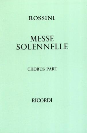 Gioachino Rossini - Small Solemn Mass. Chorus alone - Sheet Music - di-arezzo.com