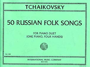 50 Russian Folk Songs. 4 Mains TCHAIKOVSKY Partition laflutedepan