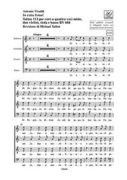 VIVALDI - In Exitu Israel RV 604. Choir Set - Sheet Music - di-arezzo.co.uk