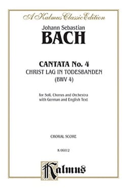 BACH - Cantate 4: Christ Lag In Todes Band - Partition - di-arezzo.co.uk