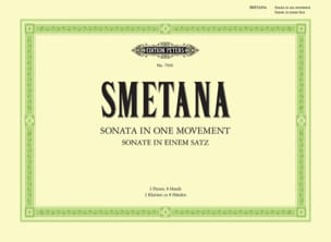 Bedrich Smetana - Sonate In 1 Movement. 2 Pianos 8 Mains - Partition - di-arezzo.fr