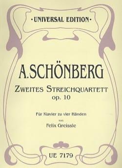 Arnold Schoenberg - Zweites Streichquartett Op. 10. 4 Mains - Partition - di-arezzo.fr
