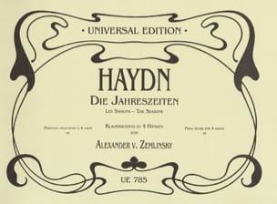 Joseph Haydn - Die Jahreszeiten. 4 Mains - Partition - di-arezzo.fr