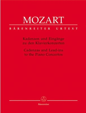 MOZART - Cadences for piano concertos - Sheet Music - di-arezzo.co.uk