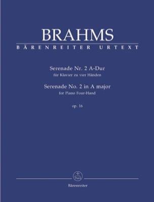 BRAHMS - Serenade N° 2 En la Majeur Op. 16. 4 Mains - Partition - di-arezzo.fr