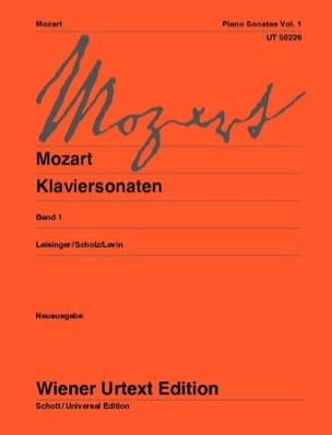 MOZART - Sonates Volume 1. Nouvelle Edition - Partition - di-arezzo.fr