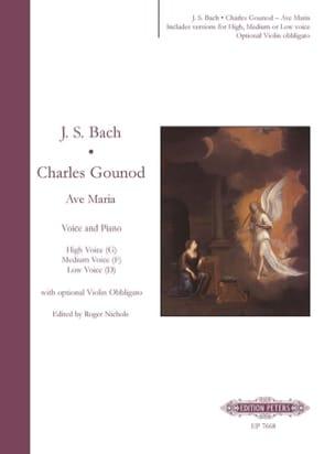 Gounod Charles / Bach Jean-Sébastien - Ave Maria - Partition - di-arezzo.fr