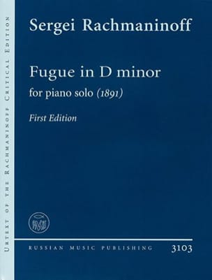 Sergei Rachmaninov - Fugue En Ré mineur (1891) - Partition - di-arezzo.fr