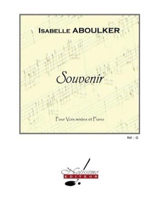 Souvenir Isabelle Aboulker Partition Chœur - laflutedepan