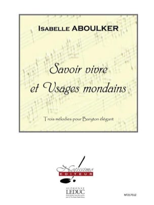 Isabelle Aboulker - Know Living and Uses - Sheet Music - di-arezzo.co.uk