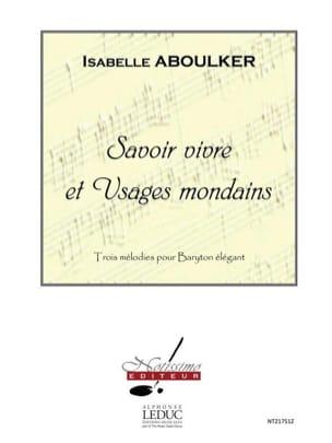 Isabelle Aboulker - Savoir Vivre et Usages Mondains - Partition - di-arezzo.fr