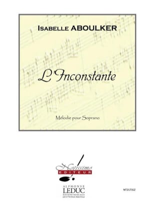 Isabelle Aboulker - The Inconstant - Sheet Music - di-arezzo.com