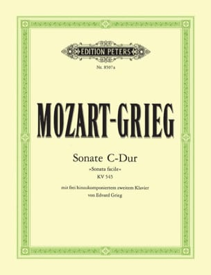 MOZART - Sonate K 545. 2 Pianos - Partition - di-arezzo.fr