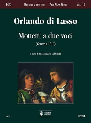 Motetti A 2 Voci - Orlando di Lassus - Partition - laflutedepan.com