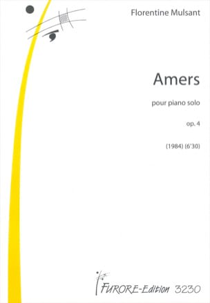 Amers Opus 4 Florentine Mulsant Partition Piano - laflutedepan