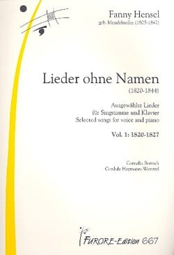 Fanny Hensel - Lieder Volume 1 : Lieder Ohne Name - Partition - di-arezzo.fr