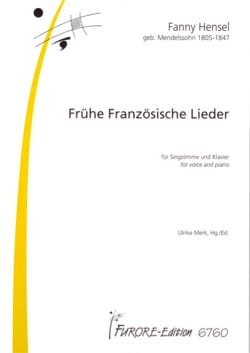 Fanny Hensel-Mendelssohn - 16 Frühe Französiche Lieder - Partition - di-arezzo.fr