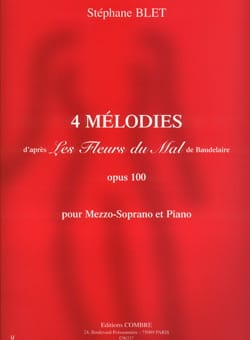 Stéphane Blet - 4 Melodies Op. 100 - Sheet Music - di-arezzo.com